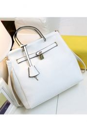 Lock Embellished High Quality Shoulder Bag - Bags/Purses