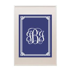 Free Fretwork Printable Monogram