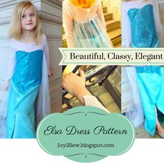 Elsa ice dress pattern from Joy2Sew! Make your Princess one for Halloween!!