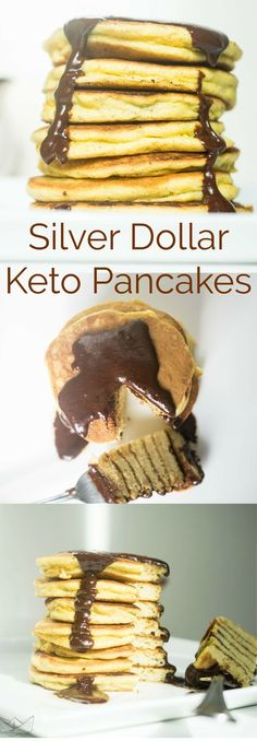 Silver Dollar Keto Pancakes | Peace Love and Low Carb #keto #lowcarb #pancakes #lchf #hflc #recipes via @PeaceLoveLoCarb