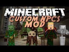 Minecraft Mod Showcase: Custom NPCs! (Make your own NPCS, Quests, and Ad...