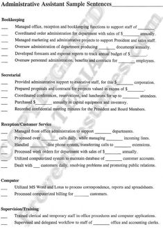 sample administrative assistant resume yahoo search results