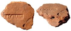 Roman terracotta brick with stamp of Legio III Augusta, 1st - 2nd Century AD    website: http://www.ancientresource.com/lots/roman/roman-war-soldiers-artifacts.html