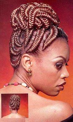 fishbone goddess braids