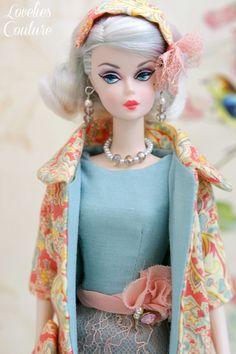 OOAK Silkstone Barbie Fashion by Katia - Paisley Pink 7 Pieces #Loveliescouture