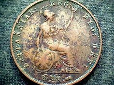 Coin: Great Britan Queen Victoria 1858 Half Penny Copper