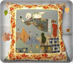 """Купить Декоративная подушка """" Осенняя сказка"""". - рыжий, подушка, декоративная подушка, осень"""
