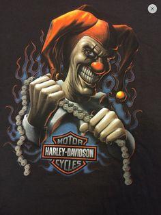 Harley Davidson Evil Clown