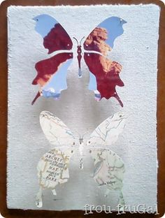Map butterfly knock off project.