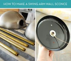Weekend Project: DIY Swing Arm Wall Sconce » Curbly   DIY Design Community
