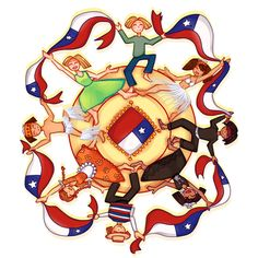 Gran Peña Folklorica – Chile Saluda a Latinoamérica Classroom Signs, Kids Boxing, Couple Pictures, Bowser, Cute Babies, History, Country, Creative, Crafts