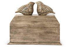 Mango Wood Bird Box on OneKingsLane.com