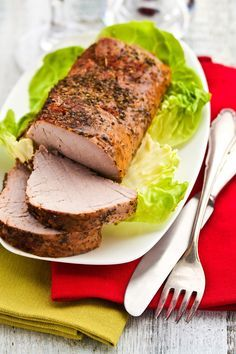 Weight Watchers Herb Roasted Pork Tenderloin Recipe with Oregano, Thyme, Onion Powder, Garlic, Sea Salt, and Olive Oil - 10 Minute Prep Time - Paleo -  3 WW Points