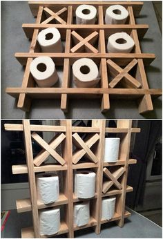 If you want to give your bathroom area with some clean and catchier look, then do think about adding it with the wood pallet toilet holder stand unit. It would definitely be best enough in showing out the fabulous impacts. This toilet holder design is further incorporated with the various portions of divisions into it.