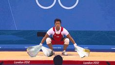 Olympic weightlifter with grocery bags - Weird gifs with photoshop