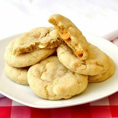 Butterscotch!! I was looking for a recipe for some cookies and found this delicious Butterscotch and White Chocolate Chip Cookies. Of course you can just skip the white chocolate chips if you want to make only butterscotch chip cookies.