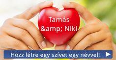 Hozz létre egy szívet egy névvel!