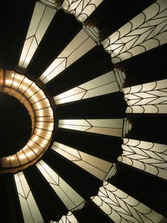 "artdecoandmodernist: ""Art Deco Proscenium Ceiling at The Martin Woldson Theater at The Fox, Spokane, Washington, by architect Robert C. Reamer, 1931. """