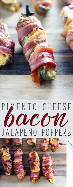 Bacon Jalapeno Poppers ...done Southern Style with homemade pimento cheese. #ad Made with Wright Brand Hickory Smoked Bacon from Kroger, this is a game winning recipe that is an instant classic.