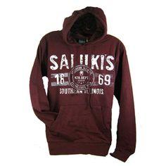 Maroon Saluki Textured Hooded Sweatshirt