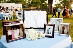 I like the idea of having a seating chart display with guest names under the table names vs escort cards :)