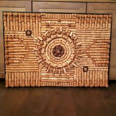 """Painting"" with used wine corks. :) 70cm x 100cm DIY project"