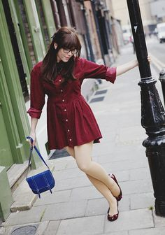 burgundy dress by Carrie WishWishWish, via Flickr