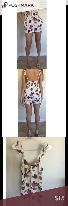 Adorable floral romper Cute XS romper. Like new. Worn once for photoshoot.  Forever 21 Dresses