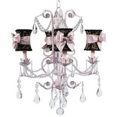 Jubilee 7506-2718-505 4 Light Valentino Chandelier, Pink