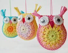 Corujas crochê por lugar de dada, via Flickr