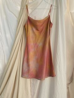 Casual Dresses, Slip Dresses, Mini Dresses, Thing 1, Mini Slip Dress, Satin Slip, Fashion Outfits, Womens Fashion, Tie Dye Skirt