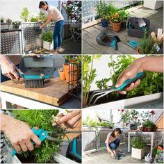 Post: Jardinería en el balcón y en el jardín con Gardena --> #growanyspace, accesorios jadín, city gardening, decoración exteriores, diseño exteriores, jardineria urbana, plantas balcón, pulverizador, riego automático, set herramientas balcón, exteriors, design, tools, garden