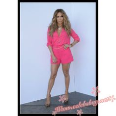 Jennifer Lopez fuchsia dress 'American Idol Season 13 Top 8 To 7′ Live Show $99.99 each at Celebsbuy.net