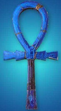<3 Simbologia do amuleto Ankh ☥ (material lápis-lazúli): O Ankh é um símbolo egípcio. Combinando a cruz Tau do deus Osíris e a forma oval da deusa Ísis, simboliza vida. Foi mais tarde adoptado pela igreja copta cristã do Egipto. A parte vertical e central da cruz, que costuma tocar e prolongar-se até à forma oval (Ísis), simboliza o pilar do deus Osíris.