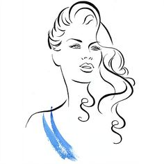 illustation cabelo da onda por Katharine Asher