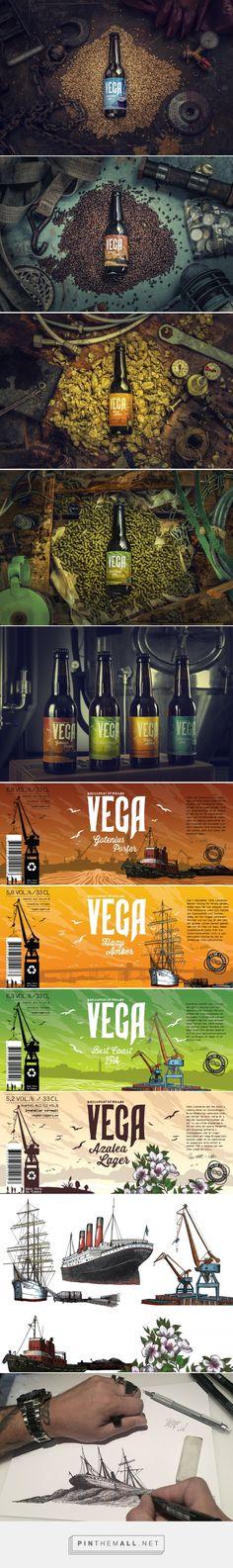 Vega Bryggeri beer label design by DQ - Depero Quadrigea - http://www.packagingoftheworld.com/2016/11/vega-bryggeri-concept.html
