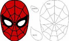 Mascara For Beautiful Eyes Spiderman Torte, Spiderman 4, Spider Man Party, Superhero Template, Superhero Party, Felt Diy, Felt Crafts, Mascara Spiderman, Stencils