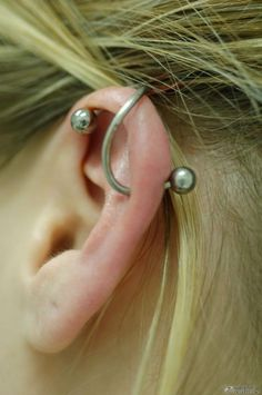 Spiral Jewelry for Industrial Ear Piercing