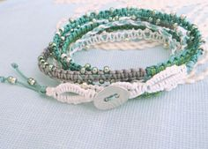 Knotted Wrap Bracelet with Macrame and Seed Beads от MaisJewelry