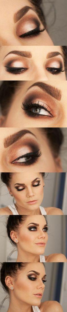 Linda Hallberg Eye make up Pink Smokey Eye, Smoky Eyes, Smokey Eye Makeup, Sultry Makeup, Dramatic Makeup, Dramatic Eyeshadow, Formal Makeup, Smokey Eyeshadow, Glamorous Makeup