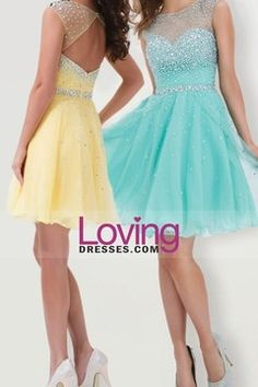 Buy Cheap 2014 Exquisite Homecoming Dresses Scoop Neckline Mesh Illusion Dark Royal Blue 7/21 - LovingDresses.com