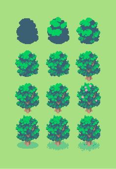 Tony Redmer Here's a rough look at how I create blobby trees ✨ Tutorial Draw, How To Pixel Art, Arte 8 Bits, Pixel Art Background, Pixel Drawing, Pixel Animation, 8bit Art, Isometric Art, Pixel Art Games