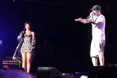 """Rihanna canta """"Stan"""" com Eminem no Lollapalooza de Chicago"""