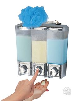 The Dispenser - 3 Chamber - Better Living Products 72344 - Bathroom Accessories - Camping World