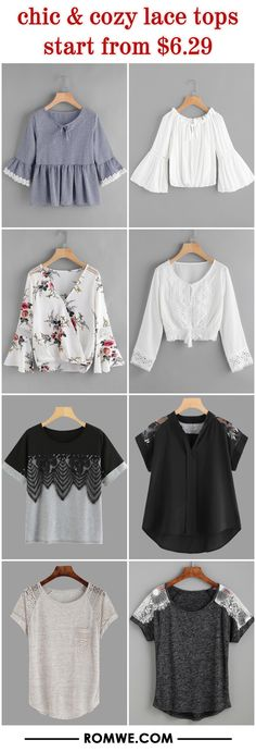 chic & cozy lace tops from $6.29