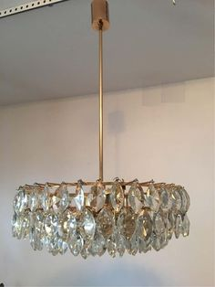 For Sale on - Glass crystals and gilded copper arms lend a beautiful ambiance to this lovely chandelier. The staggered stair type crystals allow for magnificent Crystal Ceiling Light, Ceiling Lights, Types Of Stairs, Beauty First, Candelabra Bulbs, Chandelier Pendant Lights, Arms, Copper, Crystals