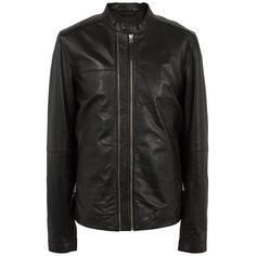 Black Addison Leather Jacket | Pretty Green | Online Shop