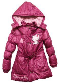Hello Kitty Jackets for Women | Girls Hello Kitty CharmmyKitty Hooded Winter Jacket Coat