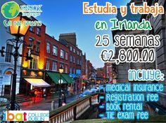 #Irlanda en uno de los países que nos permiten trabajar siempre y cuando estemos estudiando un programa de inglés. Y estudiar con @Ibat te garantiza obtener grades descuento. Solicita información sin compromiso: 01 800 5042073 #EnjoyLanguages  #Travel #Explore #EstudiaenelExtranjero
