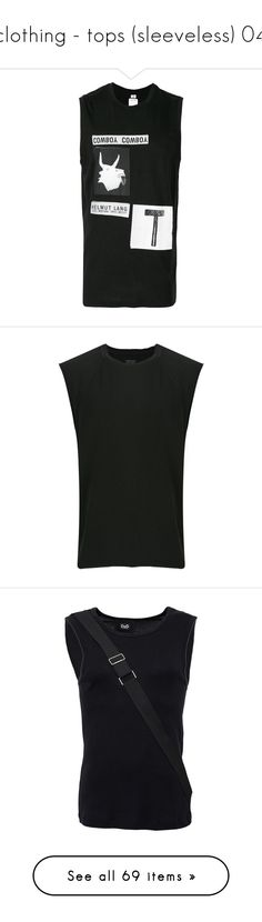 """clothing - tops (sleeveless) 04"" by ju-wise ❤ liked on Polyvore featuring men's fashion, men's clothing, men's shirts, men's tank tops, black, mens cowboy shirts, mens graphic sleeveless shirts, mens straight hem shirts, mens sleeveless shirts and mens western shirts"